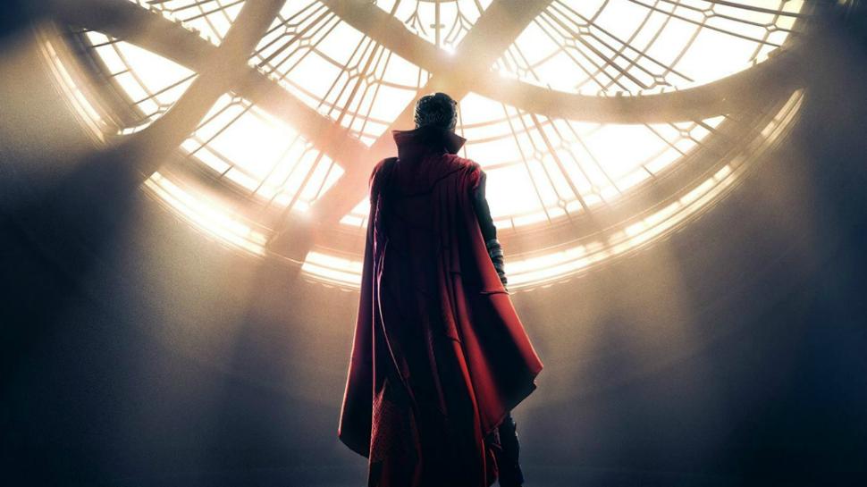 Dr. Strange standing in the sanctum