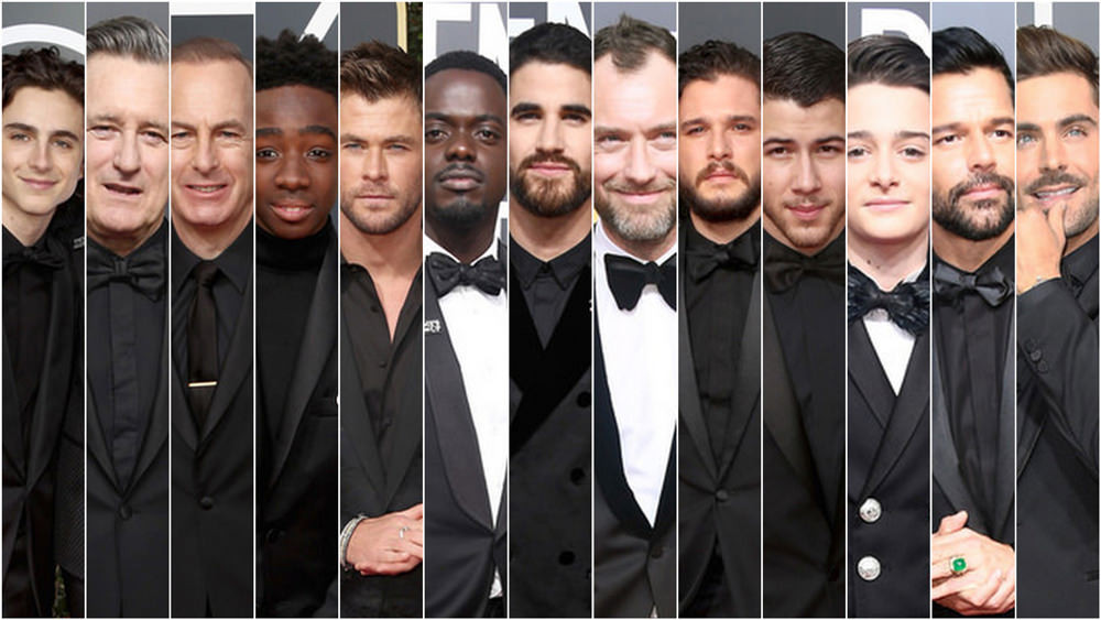 Men dressed in black.