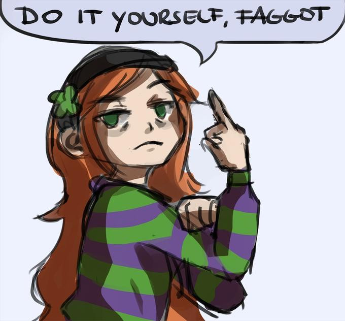 Vivian James Flipping Off
