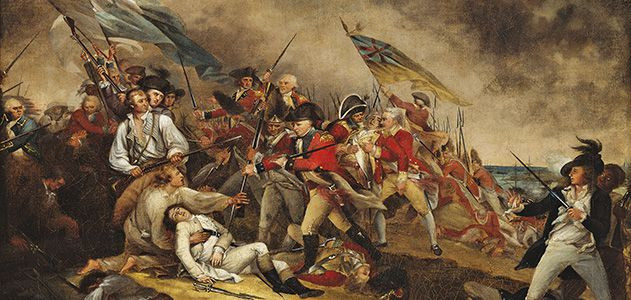Fallen soldiers at the Battle of Bunker Hill