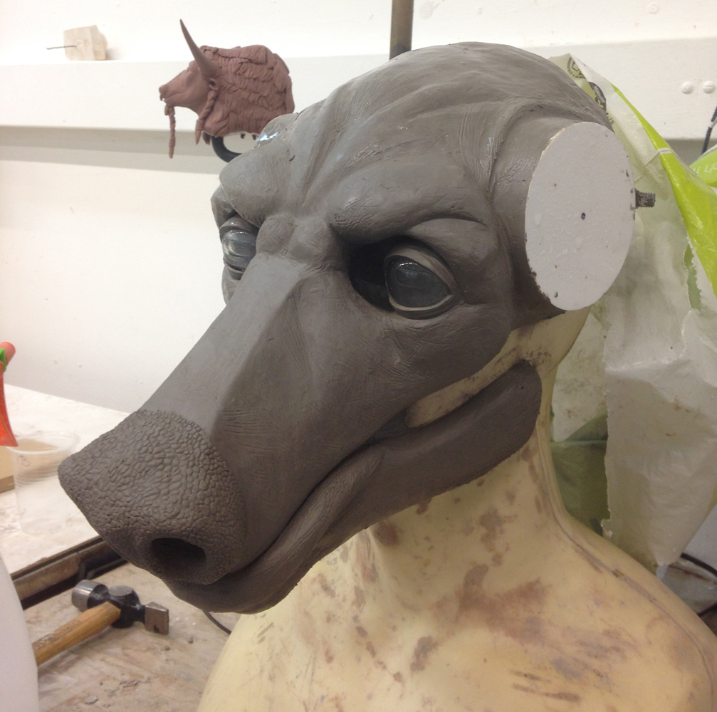 Minotaur Mask Sculpt