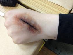 Infected Cut Makeup