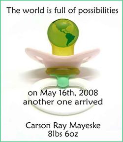 Carson Ray - Announcement