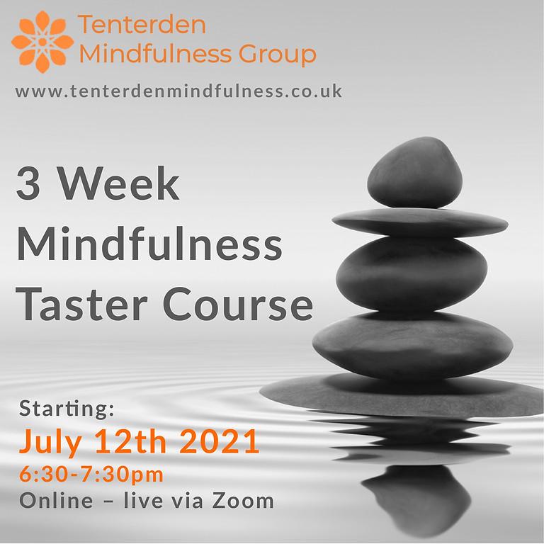Mindfulness Taster Course - July 2021