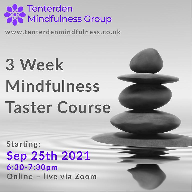 Mindfulness Taster Course - September 2021
