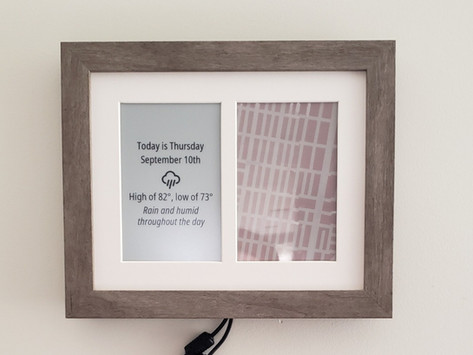 Automatic Parking Location Display with ePaper Screen and Pi