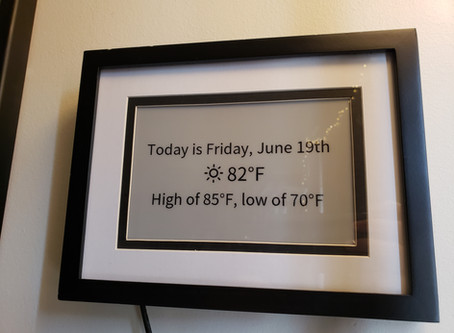 Simple Weather Display Using Waveshare ePaper Display and a Custom Calibration Program