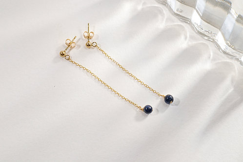 Navystone drop earrings
