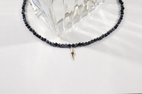 Snowflake Obsidian Collar