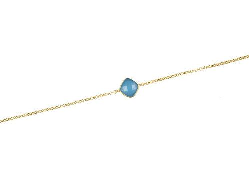 Bracciale Calcedonio Blu