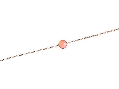 Bracciale Calcedonio Rosa