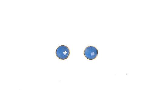 Orecchino Calcedonio Blu