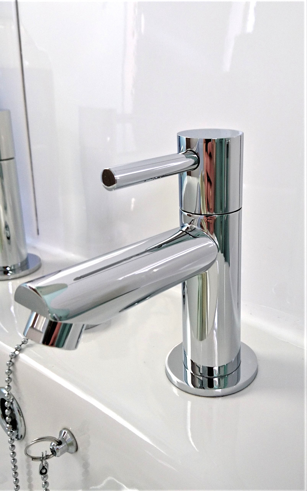 Shiny clean taps