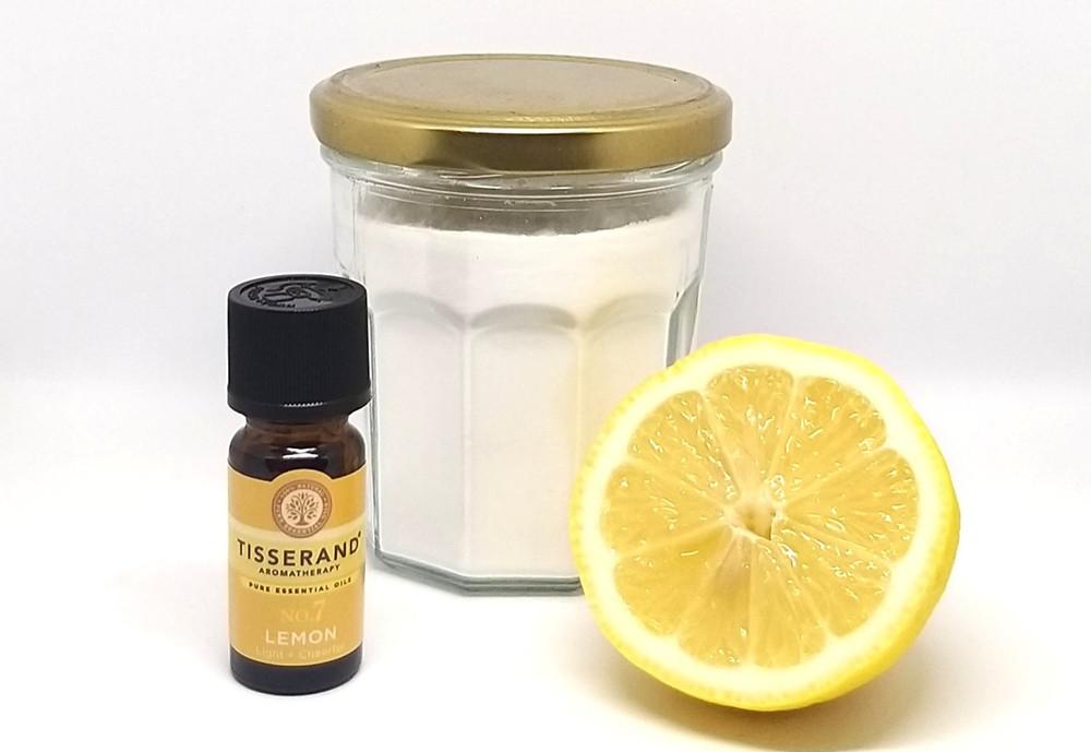 Essential Oil, Lemon, and Baking Soda