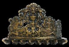 מנורת חנוכה עם קנטאורים, איטליה, המאה ה-17, יציקת פליז