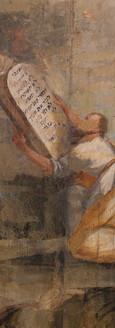 סוכת עץ מצוירת, משה מקבל את לוחות הברית