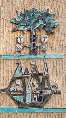 סמלי השבטים אשר (עץ וזבולון (ספינה)