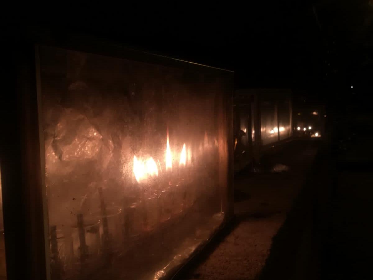 חנוכיה בשער, רחוב אלחריזי, רחביה, ירושלים