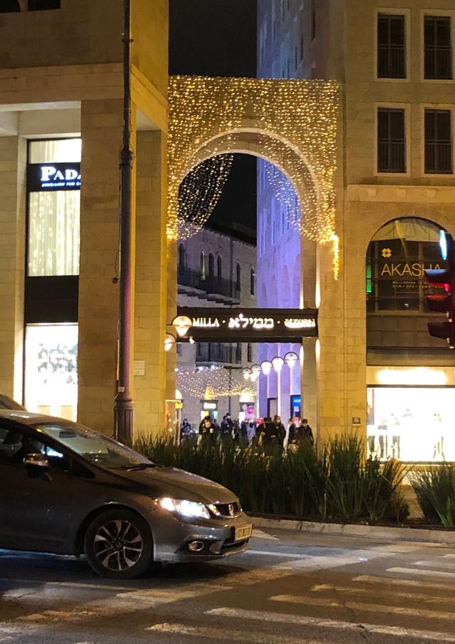 הכניסה לרחוב ממילא, מרכז העיר, ירושלים.