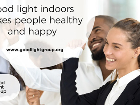 "Webinar ""Good Light indoors makes people healthy and happy"" for CIBSE"