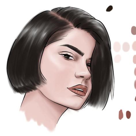 Girl painting calsdesigns