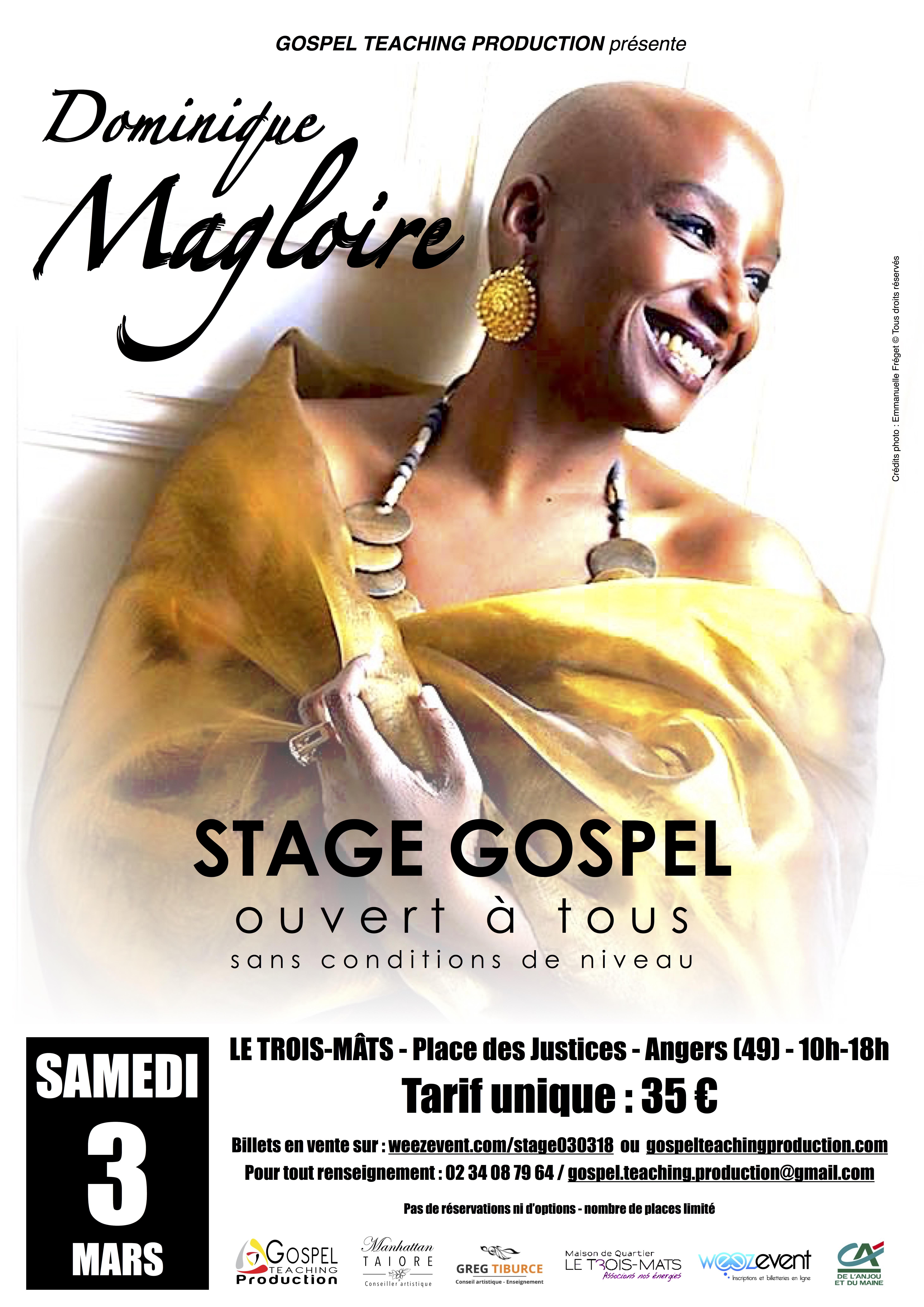 Stage avec DOMINIQUE MAGLOIRE
