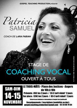 Stage avec PATRICIA SAMUEL