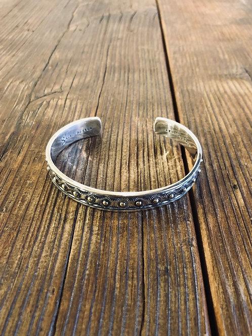 Brass Dot Silver Bangle Type 1