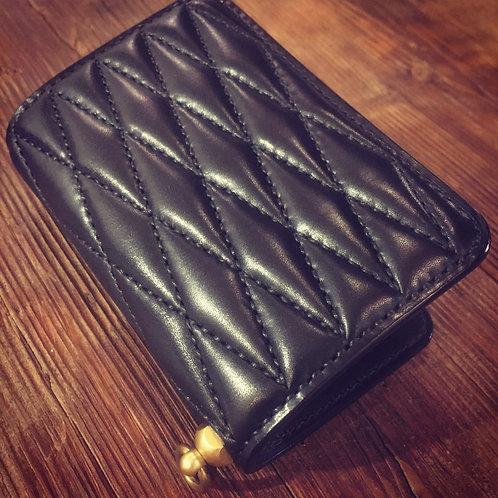 Middle Wallet Type2 Diamond Stitch BLACK