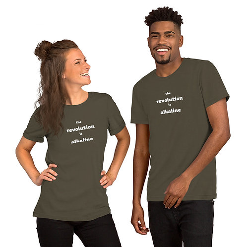 Alkaline Revolution - Short-Sleeve Unisex T-Shirt - White Ink