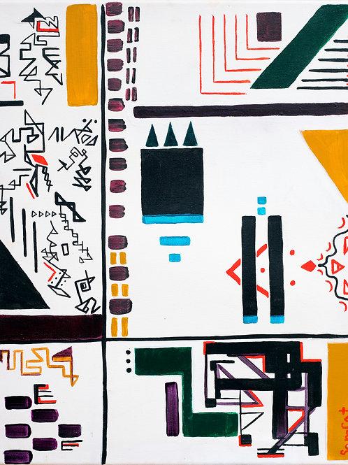 2d print - fragmented