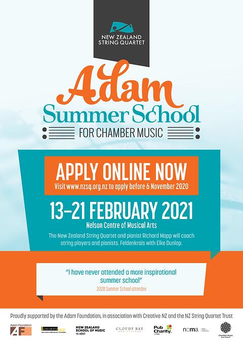 NZSQ Adam Summer School - Apply Now