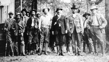 Teddy Roosevelt on a hunting trip