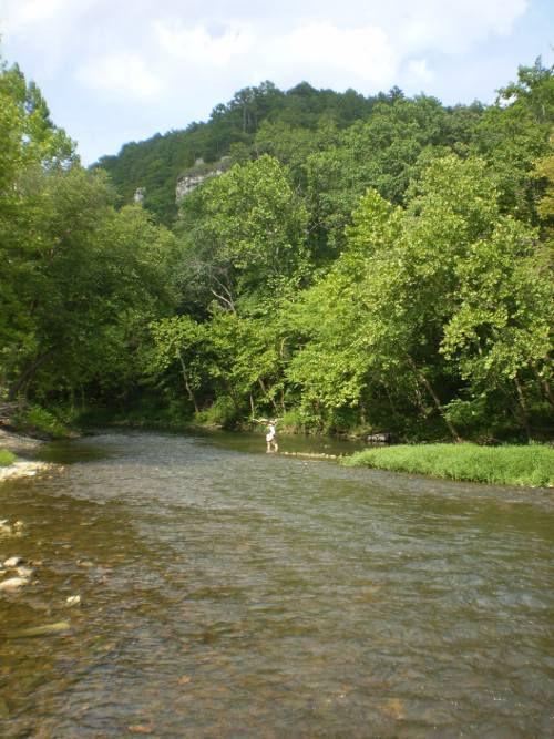 Fishing the Big Piney River