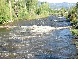 Yampa River pocket water near Steamboat