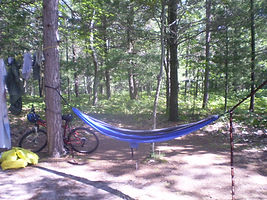 Campsite in Lake Michigan Recreation Area