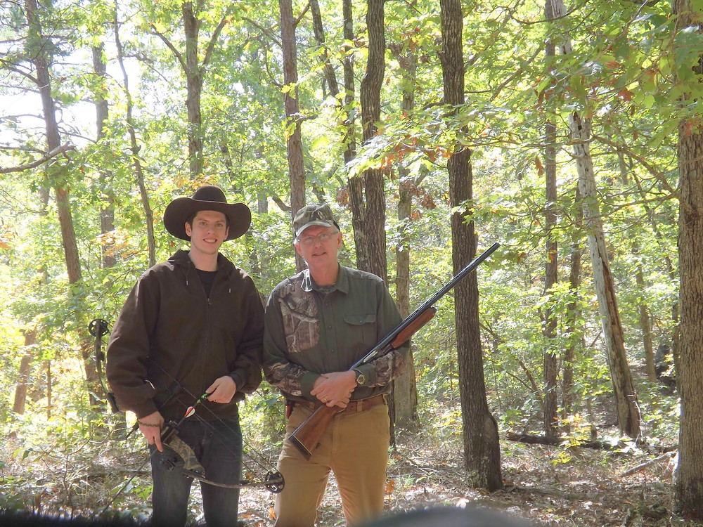 Allen and Daniel hunting at Paddy Creek Wilderness Area