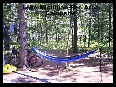 Campsite in Lake Michigan Recreation Area