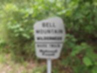 Bell Mountain Wilderness Sign