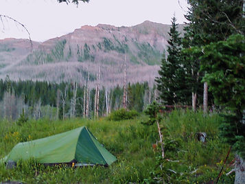 One man tent in the NW Colorado Flattops Wilderness