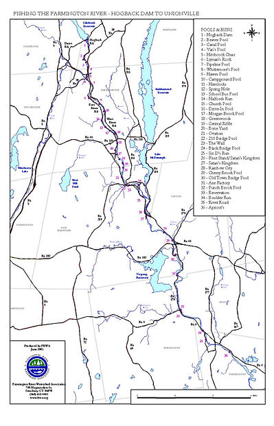 Fishing Map West Branch Farmington River