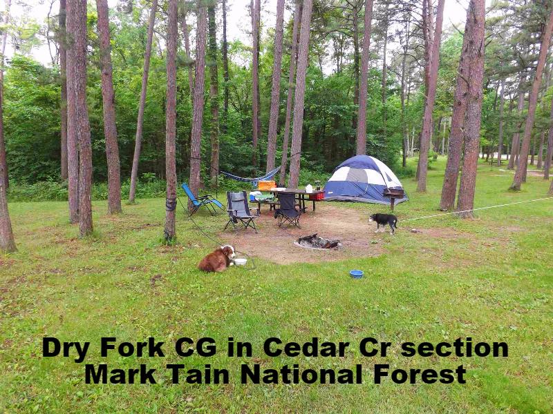 Dry Fork Campground Mark Twain Cedar Creek