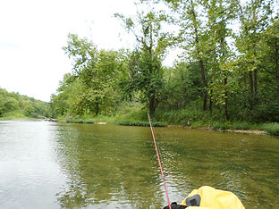 Spin fishing the Jacks Fork for smallmouth