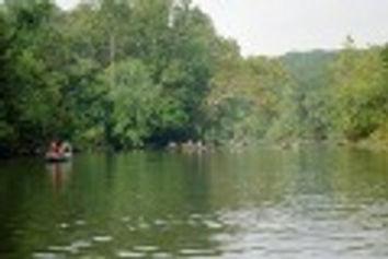 Floating on the Meramec River