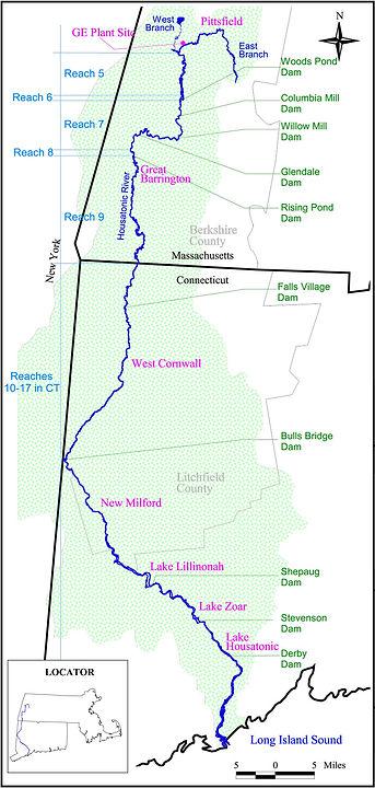 Housatonic River Fishing Map