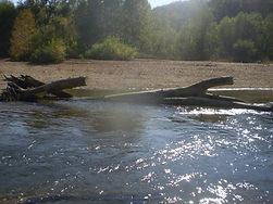 Fishing on Huzzah Creek in Missouri