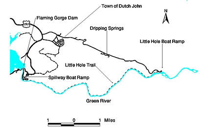 Green River Fishing Map