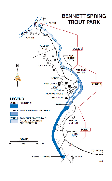 Bennett Spring Trout Park Map