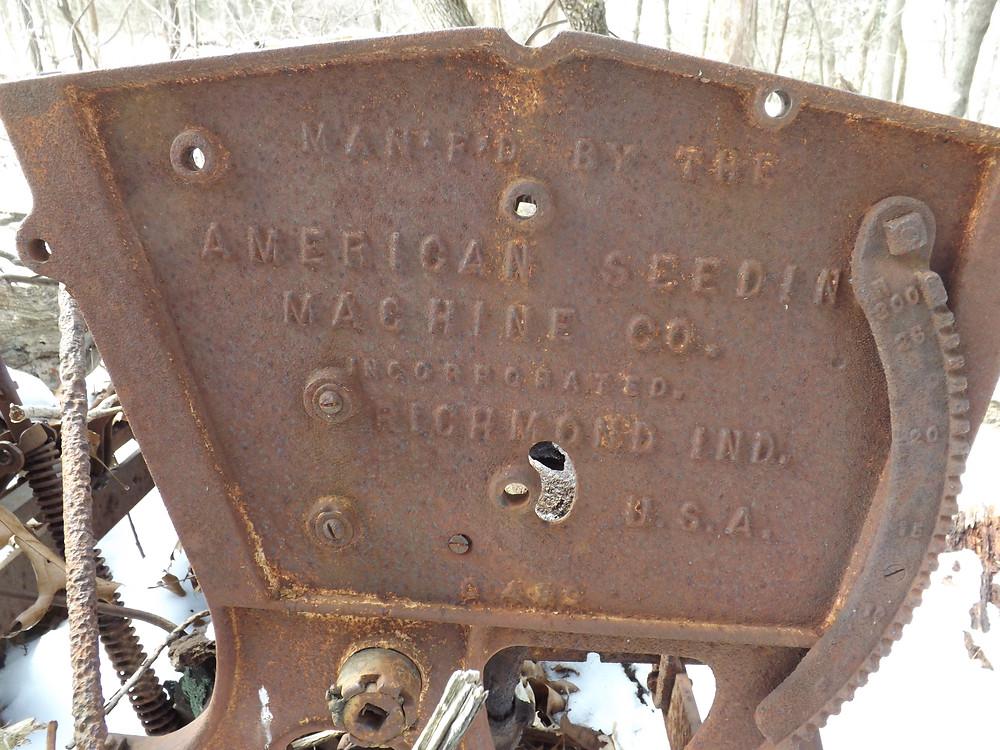 Old Farm Machine from American Seeding Machine Company