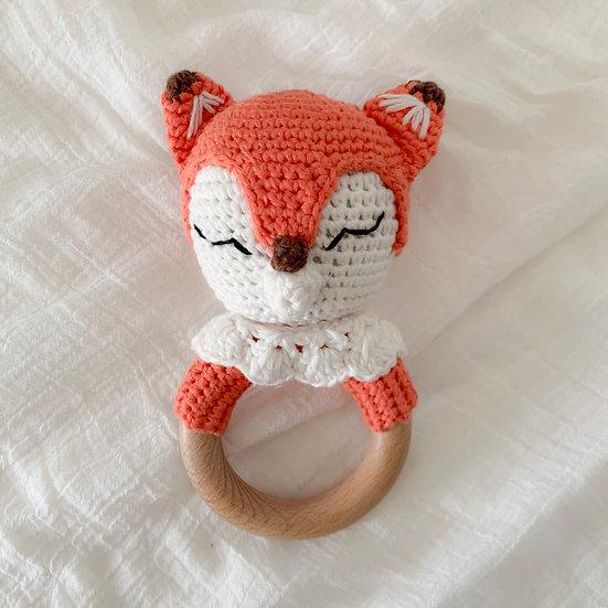 Fox Teething Rattle